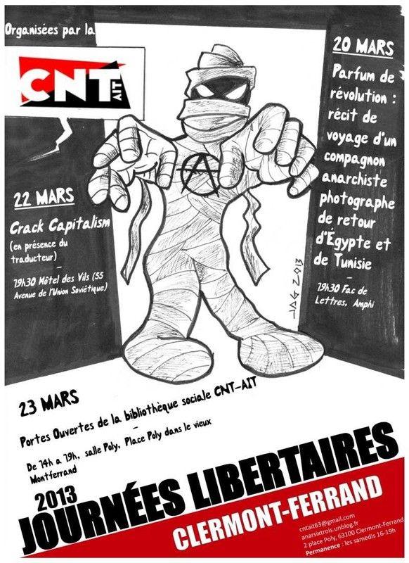 """""""Journées libertaires"""" de Clermont-Ferrand"""